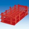 rote PP-Reagenzglasständer sind geeignet zum Temperieren von Reagenzgläsern und Proberöhrchen im Wasserbad