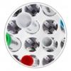 klapperfrei fixiert durch die beweglichen Kunststoff-Federhalter