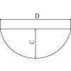 Skizze zu Laborschalen aus Edelstahl mit rundem Boden