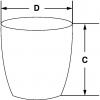 Skizze zu Schmelztiegel aus Nickel Typ 1 mit Deckel