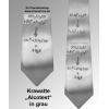 Krawatte Alcotest grau