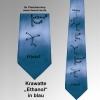 Krawatte Ethanol blau