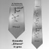 Krawatte Ethanol silber/grau