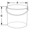 Sicherheitstransportbehälter für Laborflaschen aus Edelstahl - Skizze