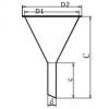 Skizze zu Pulvertrichter aus Edelstahl