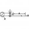 Skizze Standard –Stativklammern mit runden Backen DIN 12894