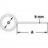 Skizze Labor-Stativringe mit geschlossenem Ring ohne Muffe