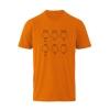 Farbe: orange 5-Ring Heterocyclen - T-Shirts für Nerds