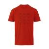 Farbe: rot 5-Ring Heterocyclen - T-Shirts für Nerds