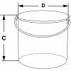 Skizze zu Flaschen-Transportbehälter mit Henkel und Deckel aus Edelstahl