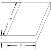 Skizze zu Edelstahl-Verdampfschalen mit überstehendem Rand