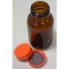 Weithals-Lackaufbewahrungsflasche Braunglas mit Schraubdeckel aus PP und teflonisierter Dichtung